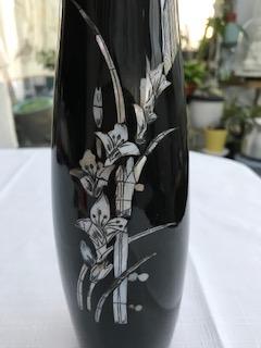 Petit Vase laque et nacre 6€ (Ref : D_10A)