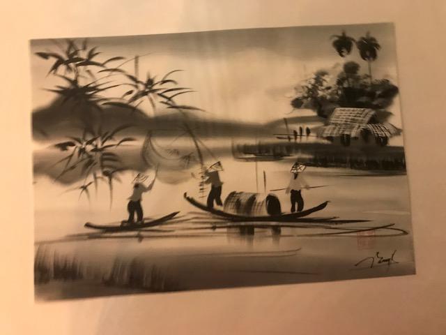 Peinture sur soie paysage du Viet Nam 2€ (Ref : D_16L)