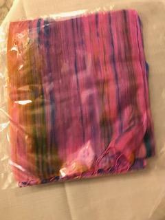 Foulard soie arc en ciel 6 € (Ref : H_03A)