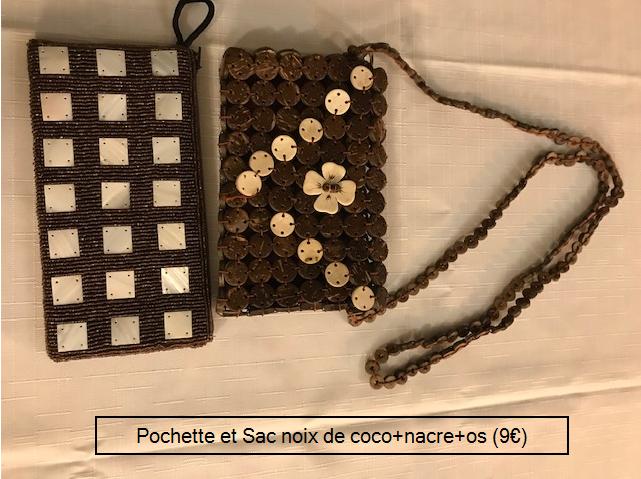 Sacs en noix de coco et nacre 9€ (Ref : S_01)